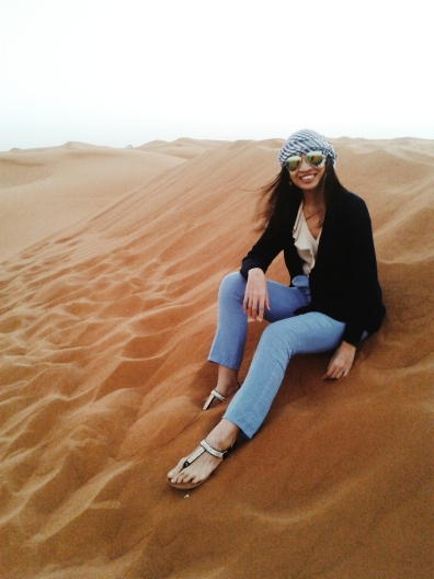 The author at Al Awir desert