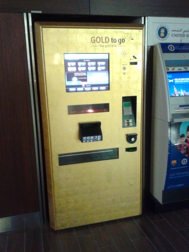You know people are swimming in money when you can get gold on the go.