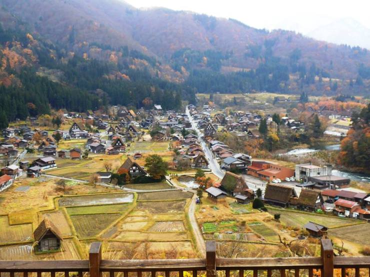 The view from the deck at Shirakawa-go