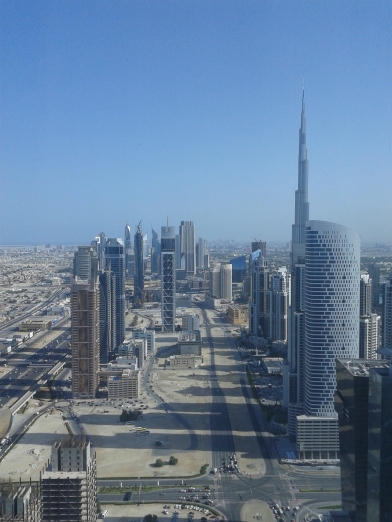 Dubai's skyscrapers, with the Burj Khalifa towering above all of them